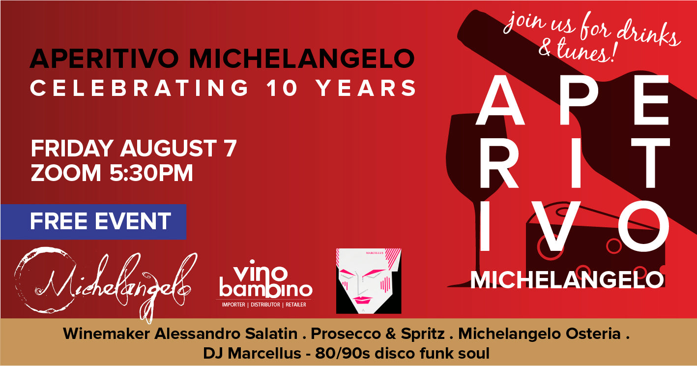 APERITIVO MICHELANGELO Celebrating 10 years - 7 August, Friday 5:30pm