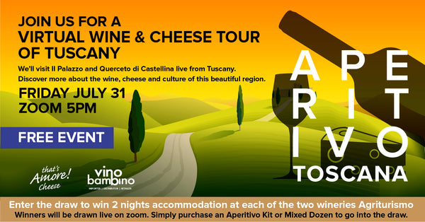 A Virtual Wine & Cheese Tour Through Tuscany + A Chance to win 2 nights accommodation in Tuscany Agriturismo