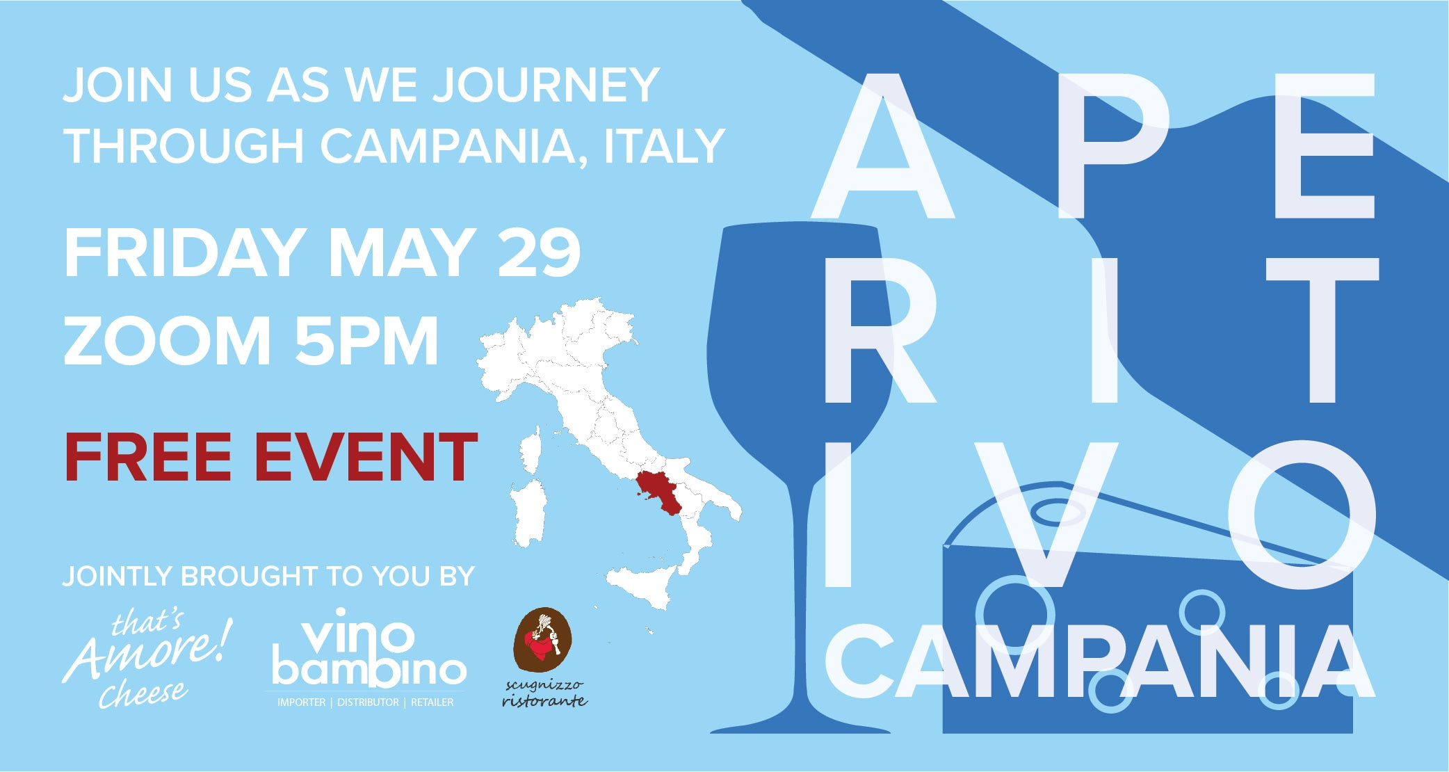 Free Event: We're going to Napoli! - Aperitivo Friday 29th May, 5pm