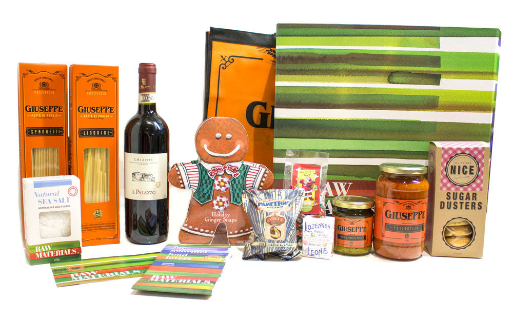 Raw Materials + Vino Bambino Festive Gourmet Hampers