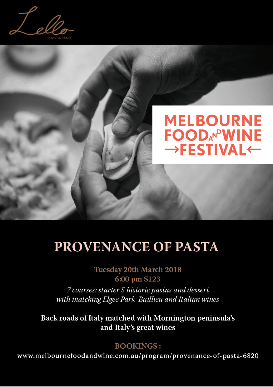 Lello MFWF - Provenance of Pasta