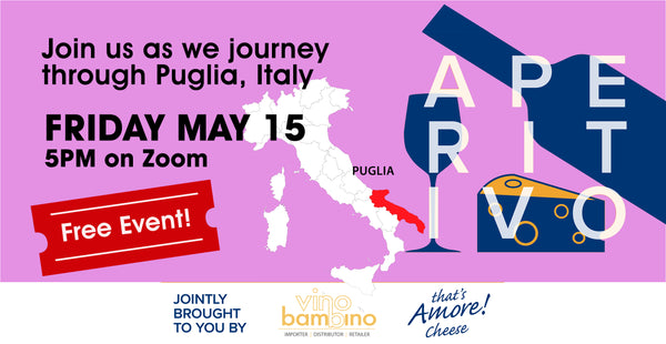 Free Event: Journey Through Puglia Aperitivo - Friday 15th May, 5pm