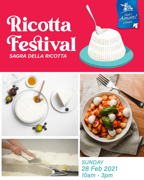 We'll be pouring wine at That's Amore Cheese Ricotta Festival