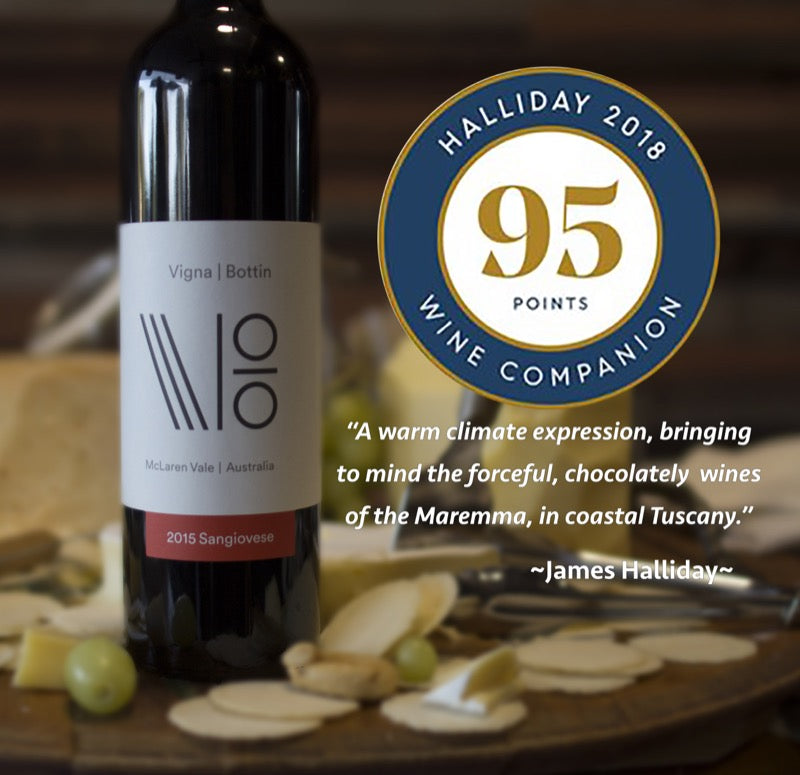 Halliday Wine Companion 95pts - Vigna Bottin Sangiovese