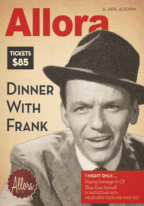 Dinner with Frank by Allora for MFWF