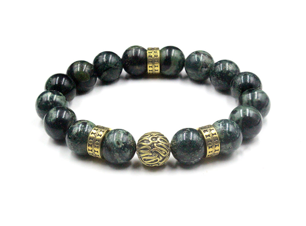 Jade and Gold Beads Bracelet