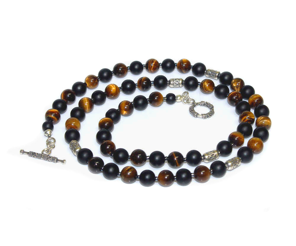 Tiger's Eye and Matte Black Onyx