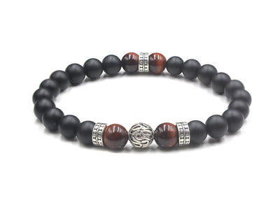 Onyx & Red Tiger's Eye