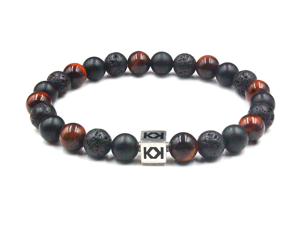 Red Tiger's Eye, Onyx, and Lava
