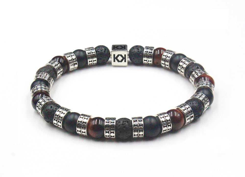 Lava Stone, Onyx & Red Tiger's Eye