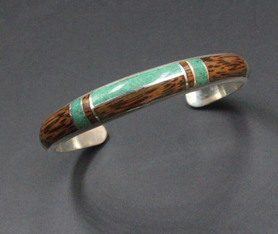 Malachite and Coconut Wood