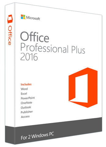 Microsoft Office Professional Plus 2016 for 2 Windows PC