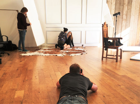 Behind the Scenes: Chamberi's First Photo Shoot. London.