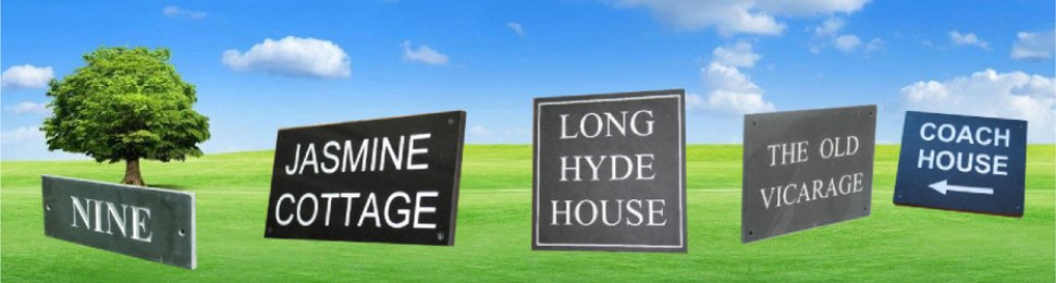 Slate House Number Signs UK