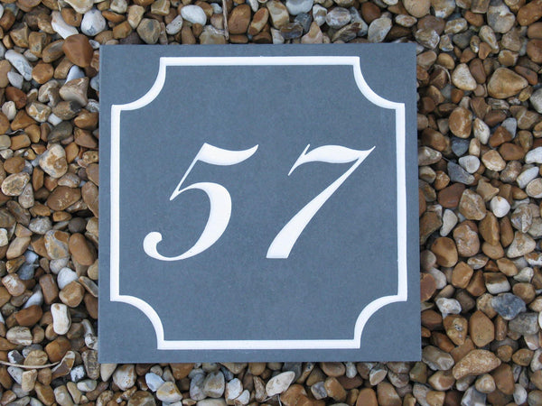 "(H)150mm x (W)150mm (6""x6"")  Slate Sign using Liffey Script font  -Free artwork-Free delivery-Free plugs & screws"