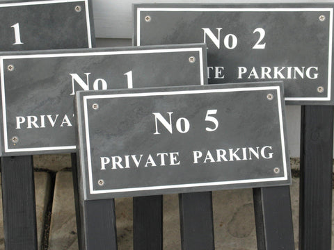 "(H)150mm x (W)300mm (6""x12"")- Slate Sign using Times New Roman font bold -Free artwork-Free delivery-Free plugs & screws (Excludes cost of posts)"