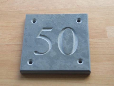"(H)200mm x (W)200mm (8""x 8"") Slate Sign using Times New Roman font  -Free artwork-Free delivery-Free plugs & screws"