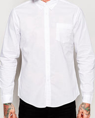 Baisy Street 3/4 Sleeve Panelled Casual Shirt