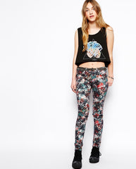 By Zoe Floral Print Jeans