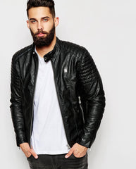 G-Star Leather Jacket Aviator Rebel Biker
