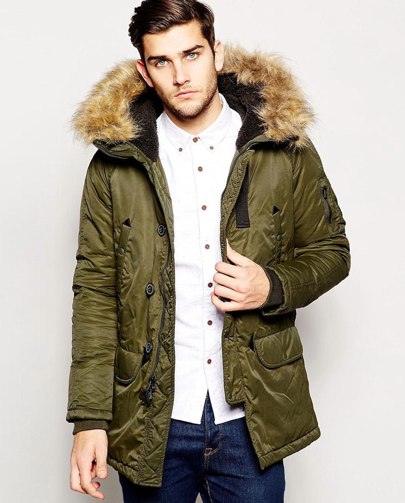 Spiewak Parka with Faux Fur Trim