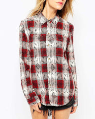 Boyfriend Shirt With Distressing Ankle Leg