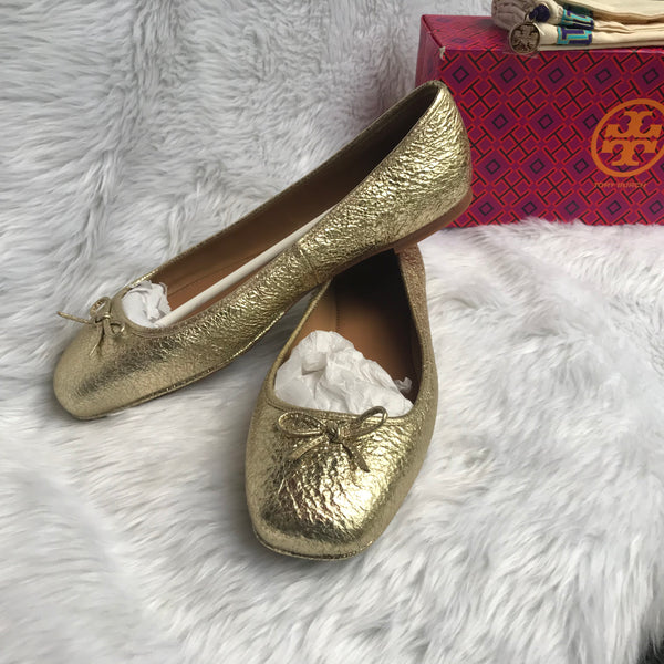 858f5824bb0b Tory Burch Women s Laila Leather Driver Ballet Flats – Luxury Leather