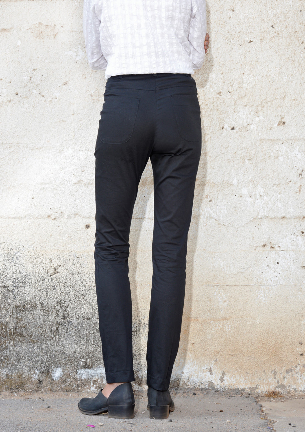 Skinny-fit trousers in black