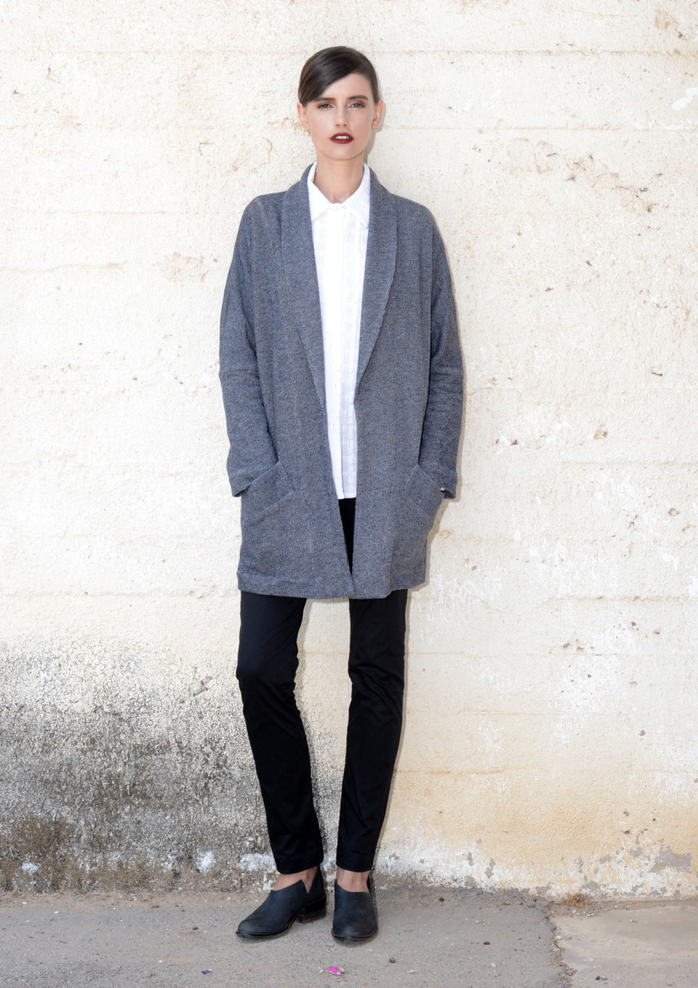 Oversized sweatshirt coat