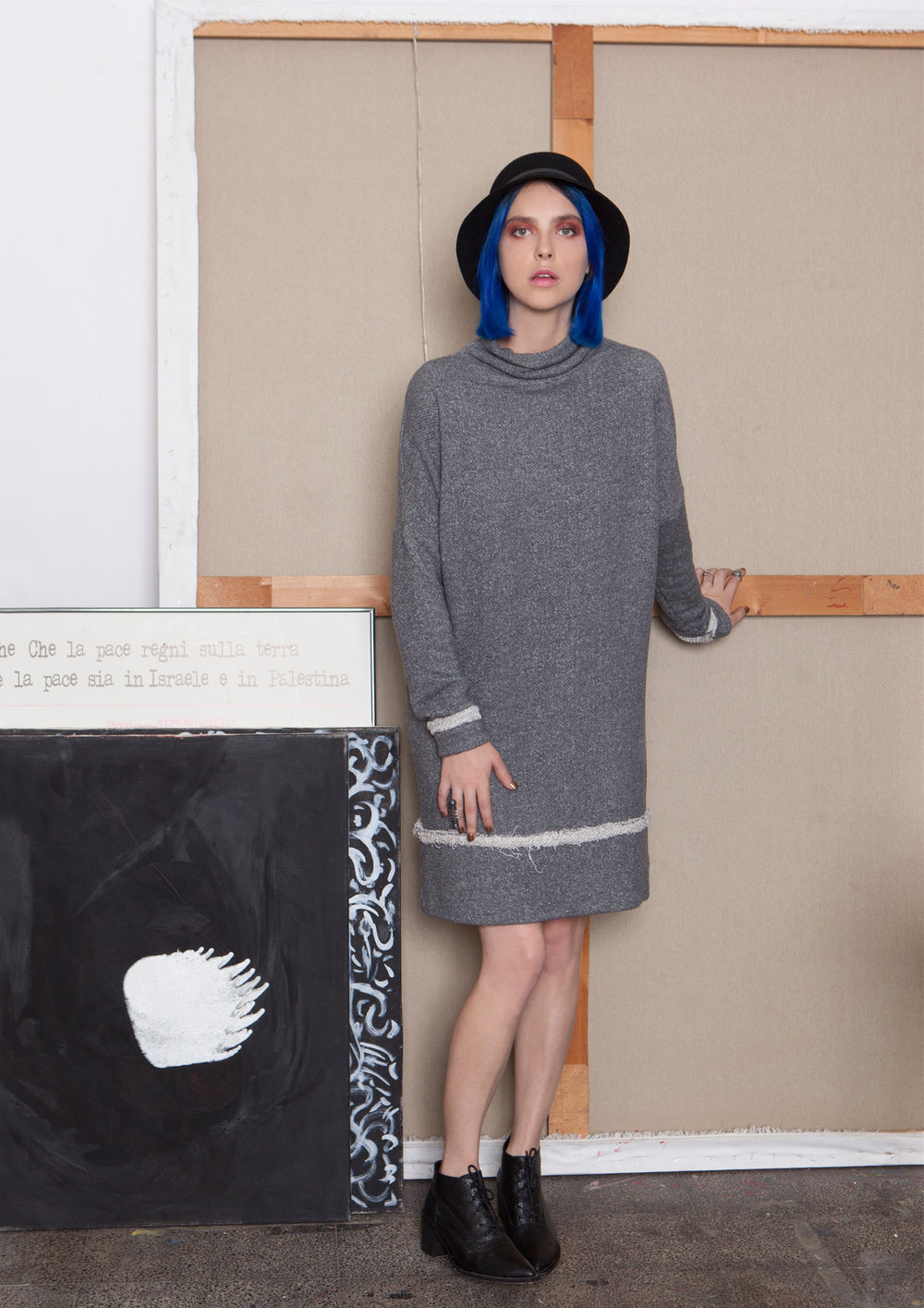 Muza grey sweatshirt dress