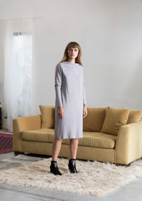 Long Sleeve Half Turtle Neck Dress