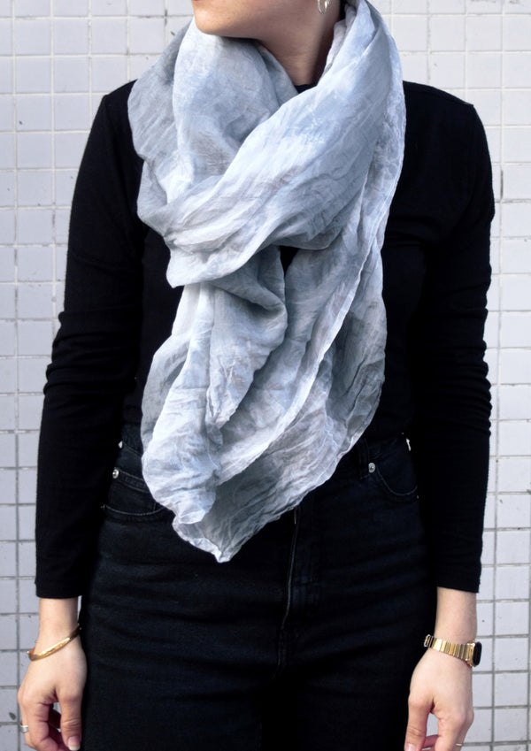 Dyed scarf