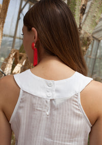 Collar silk top