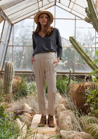 Relaxed Pleated Safari Pants