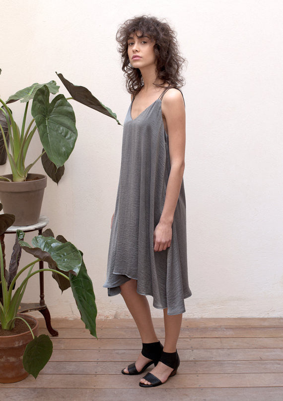 Cami dress in grey