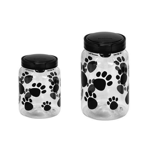 Snapware Airtight Food Storage 17.2-cup and 9.8-cup Pet Treat Canister Combo …