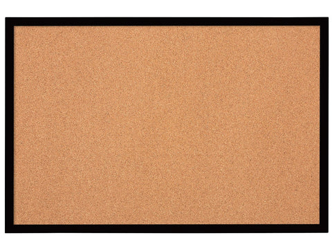 Quartet Cork Bulletin Board, 2'x3', Black Frame (MWDB2436-BK)