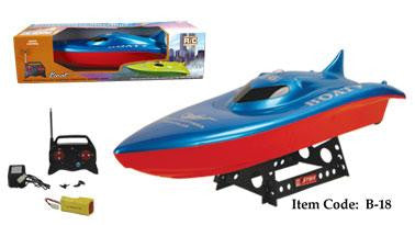 "23"" Balaenoptera Musculus Racing Boat (Red-Blue)"