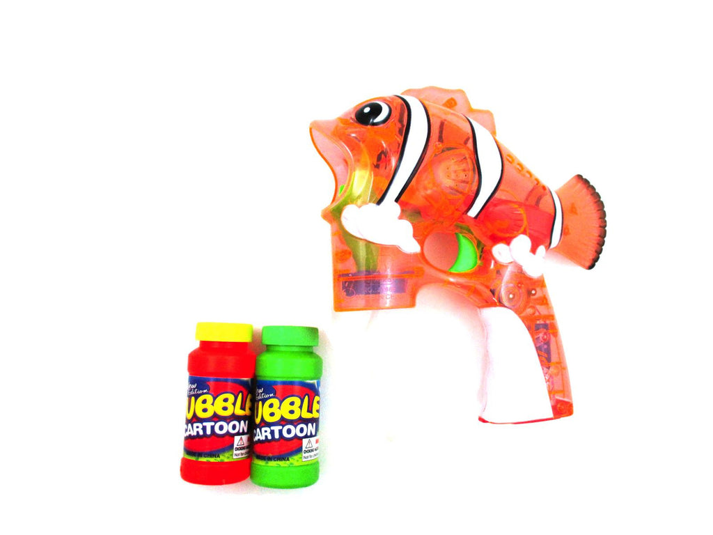 Fish Flash Toy Bubble Shooter (Clear Orange)