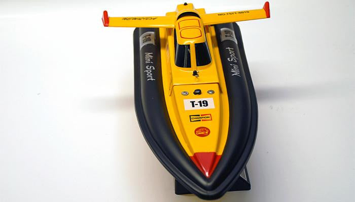 "17"" 1:25 Electric Mini Tracer Racing RC Boat YELLOW"