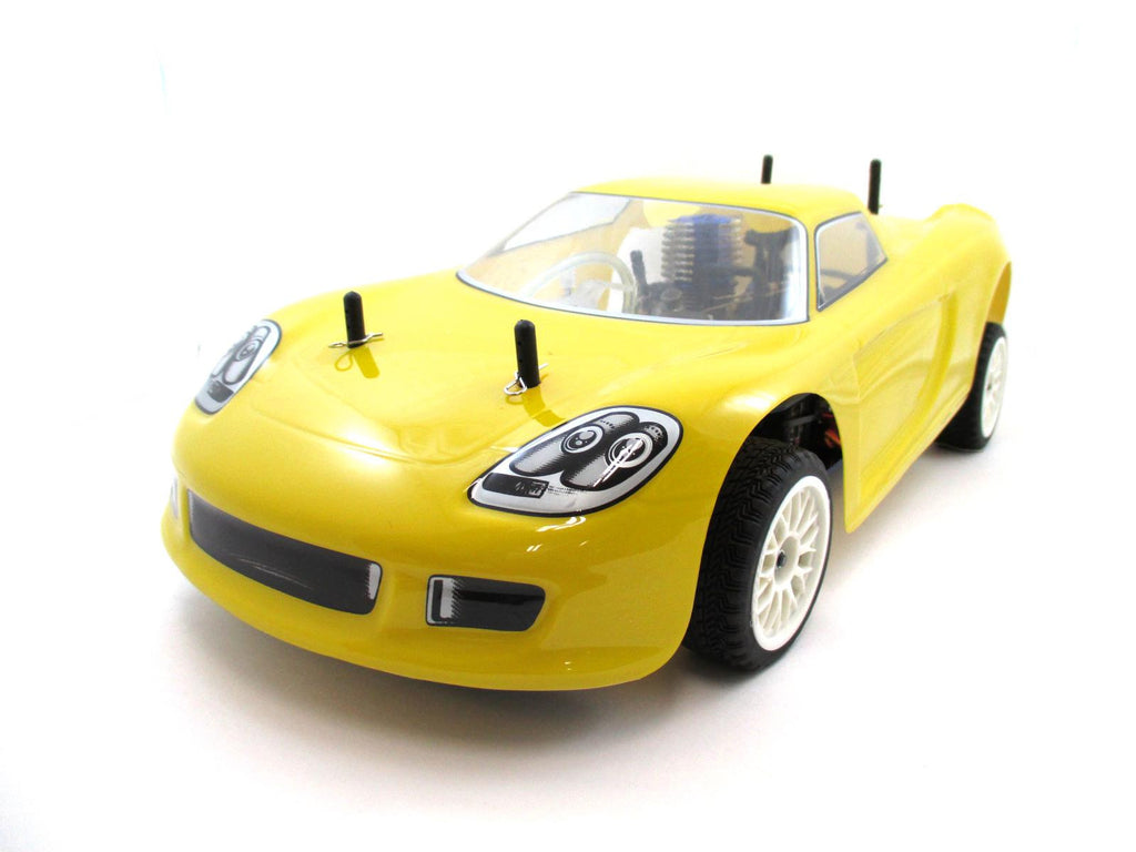 RC Racing Car Yellow .15 Engine Nitro Gas