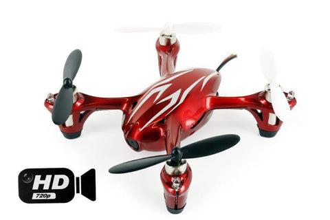 Hubsan X4 2.4G 4CH RC Quadcopter With HD Camera H710CHD (Red-White)