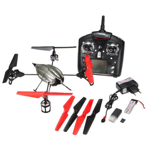 "5.1"" WLtoys V959 4-Axis 4 CH RC Quad copter With Camera, Lights, and Gyro 2.4G"