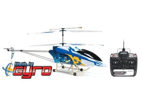 "49"" FXD 3.5 Channel Gyroscope Metal Frame RC Helicopter with LED lights! (Blue)"