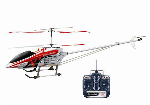 "49"" FXD 3.5 Channel Gyroscope Metal Frame RC Helicopter with LED lights! (Red)"