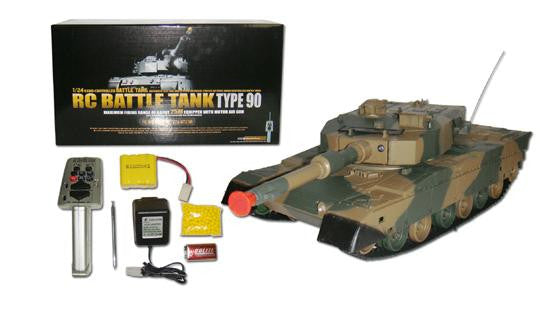 1-24 DEFENSE FORCE TYPE 90 Radio Remote-Control R-C Airsoft Battle Tank
