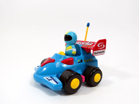 "4"" Cartoon R-C Formula Race Car Toy for Toddlers (Blue)"