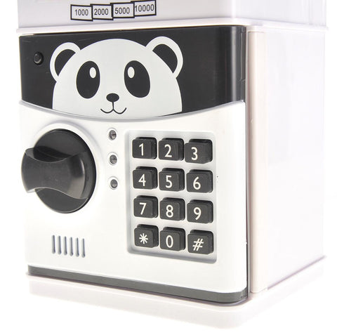 Cartoon Panda Electronic Password Piggy Coin Bank