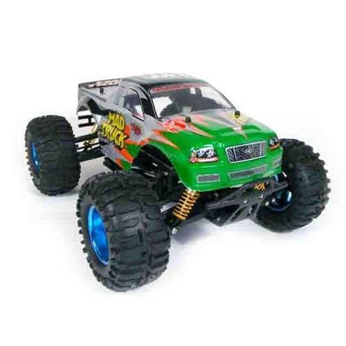 "17"" 1:10 RC Electric 4WD Mad Truck (Green)"