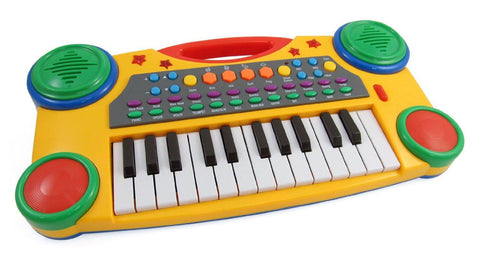 "16"" Electronic Music Piano Keyboard for Kids (Yellow)"